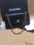 Chanel香奈儿新款黑金风琴款单肩包